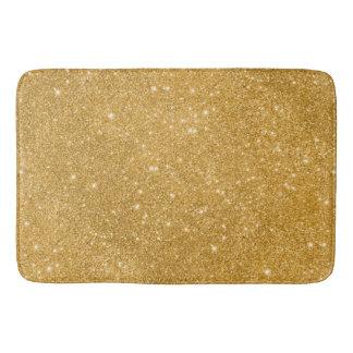 Gold Glitter Sparkles Bathroom Mat