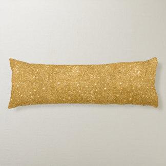 Gold Glitter Sparkles Body Pillow
