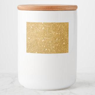 Gold Glitter Sparkles Food Label