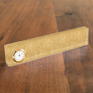 Gold Glitter Sparkles Nameplate