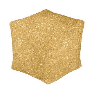 Gold Glitter Sparkles Pouf