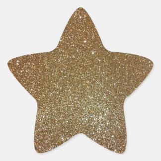 Gold Glitter Star Sticker