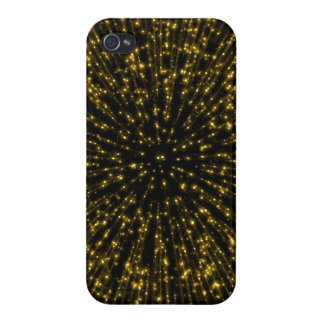 Gold Glitter Starburst Sunburst Firework Sparkle iPhone 4 Case
