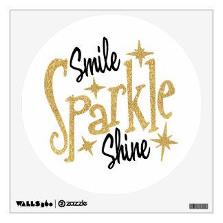 Gold Glitter Stars Smile Sparkle Shine Wall Sticker