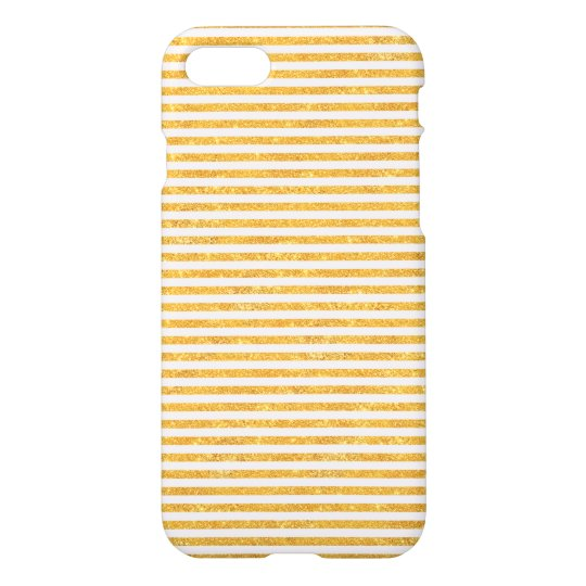 Gold Glitter Stripes - iPhone 7 case