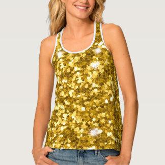 Gold Glitter Tank Top