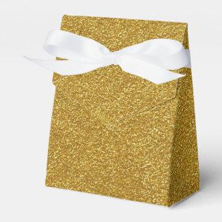 Gold Glitter Texture Favor Box