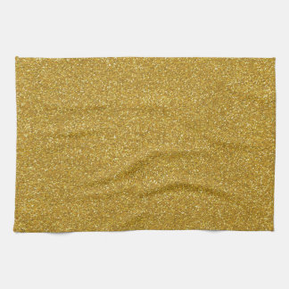 Gold Glitter Texture Kitchen Towel