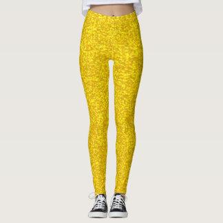 Gold glitter texture leggings