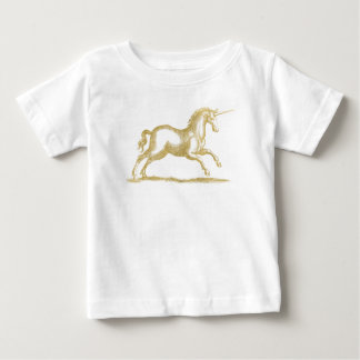 Gold Glitter Unicorn Fantasy Baby T-Shirt