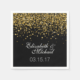 Gold Glitter Wedding Napkins Disposable Napkin
