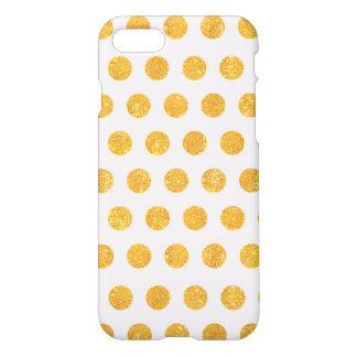 Gold Glitter with Dots - iPhone 7 case