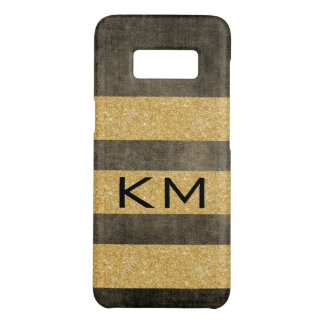 Gold Glitter with Monogram Case-Mate Samsung Galaxy S8 Case