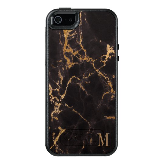 Gold Glitter With Monogram OtterBox iPhone 5/5s/SE Case