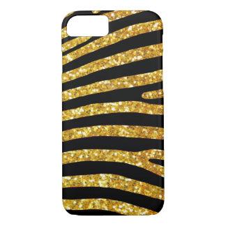 Gold Glitter Zebra Case