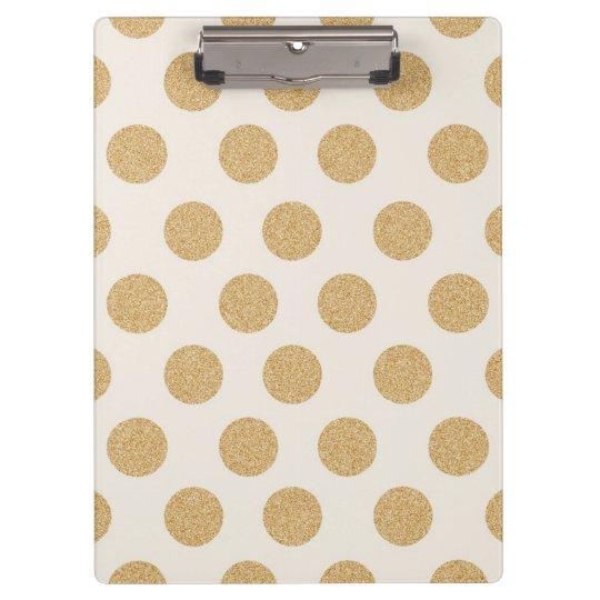 Gold glittering dots clipboard