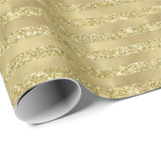 Gold Glittery Chic Stripes