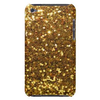 Gold Glittery Diamonds Pattern Print Design iPod Case-Mate Cases