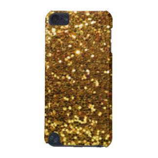 Gold Glittery Diamonds Pattern Print Design iPod Touch 5G Cases