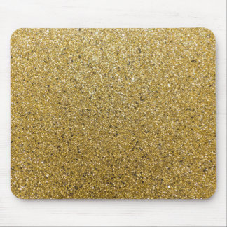 Gold Glittery Paper Mouse Pad