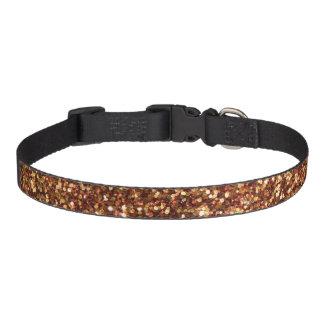 Gold Glittery Pet Collar