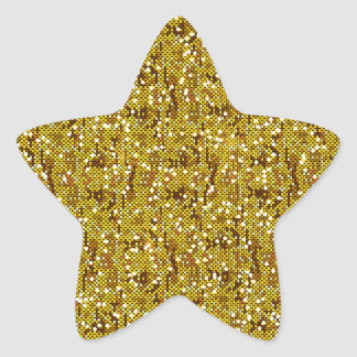 Gold Glittery Sequin Confetti Star Sticker