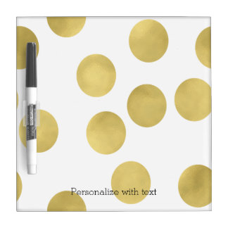 Gold Glitz Dots Dry-Erase Whiteboards