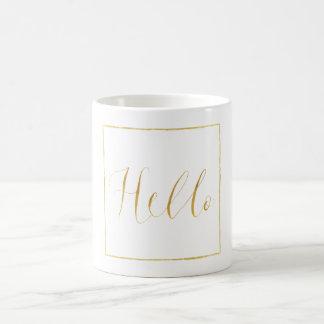 Gold Glitz Hello Coffee Mug