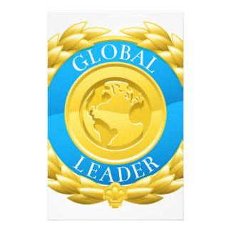 Gold Global Leader Winner Laurel Wreath Medal Stationery