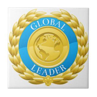 Gold Global Leader Winner Laurel Wreath Medal Tile