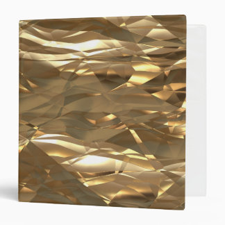Gold, Gold, Gold! - Elegant Gold pattern 3 Ring Binders