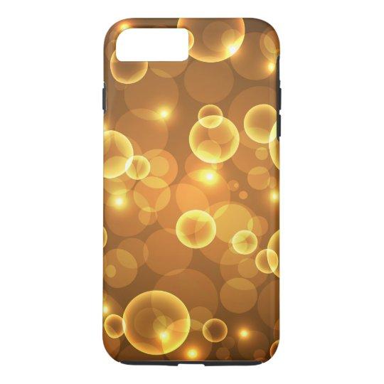 Gold Golden Bubble Light Art iPhone 7 Plus Case