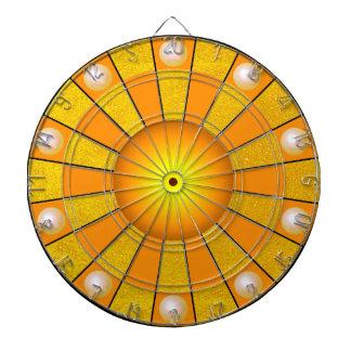 Gold Golden Darts Sun Contemporary Designer Dartboard