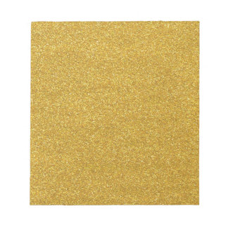 Gold Golden Glitter Sparkle Texture Notepad