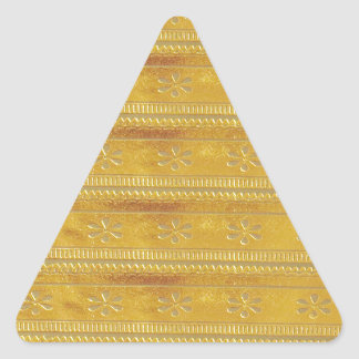 Gold Golden Template Add TEXT Greeting Wisdom Word Triangle Sticker
