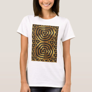 Gold Golden wave abstract art on shirts n POD gift