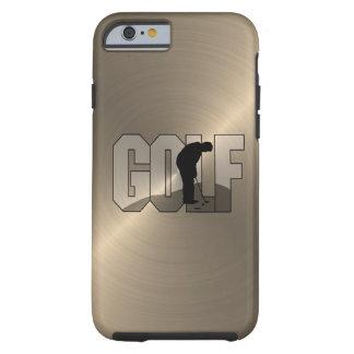 Gold Golf Tough iPhone 6 Case