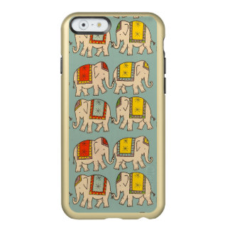 Gold Good luck circus cute elephant pattern Incipio Feather® Shine iPhone 6 Case
