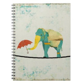 Gold Graceful Elephant Notebook