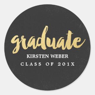 Gold Grad | Graduation Sticker Labels