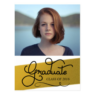 Gold Graduation Party | Save The Date Photo Postcard