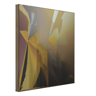 Gold, Gray, & Purple in the Afternoon Canvas Print