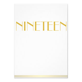 Gold Great Gatsby Wedding Table Cards Nineteen