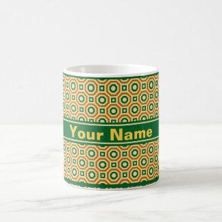 Gold/Green/Brown Nested Octagons Mug Basic White Mug