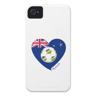 "Gold & Green Soccer Team. Soccer of ""AUSTRALIA "" Case-Mate iPhone 4 Cases"