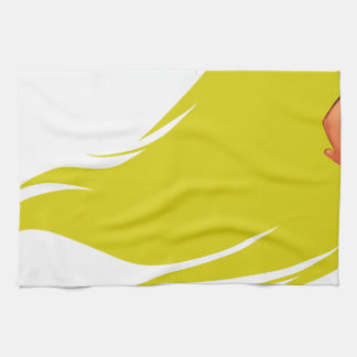 Gold Hair Girl Hand Towels