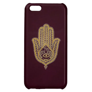 Gold Hamsa on Red iPhone 5C Case