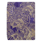 Gold hand drawn floral mandala purple watercolor iPad pro cover