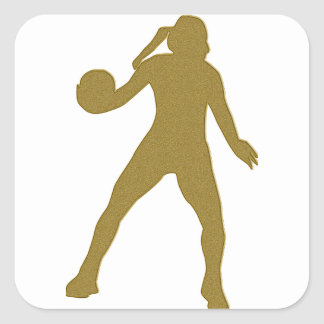 Gold Handballerin Sticker