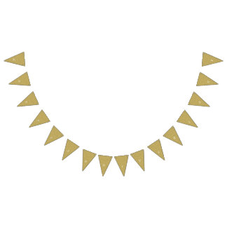 Gold Happy Anniversary Bunting Flags